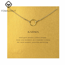 Buy original karma necklace Pendant necklace Clavicle Chains Fashion Statement Necklace Women FOMALHAUT Jewelry for $1.01 in AliExpress store