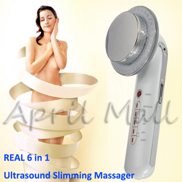 6IN1 Facial Galvanic EMS Photon Ultrasonic Body Massager Skin Care Face Beauty Slimming Fat Burner Ultrasound Therapy Cellulite(China (Mainland))