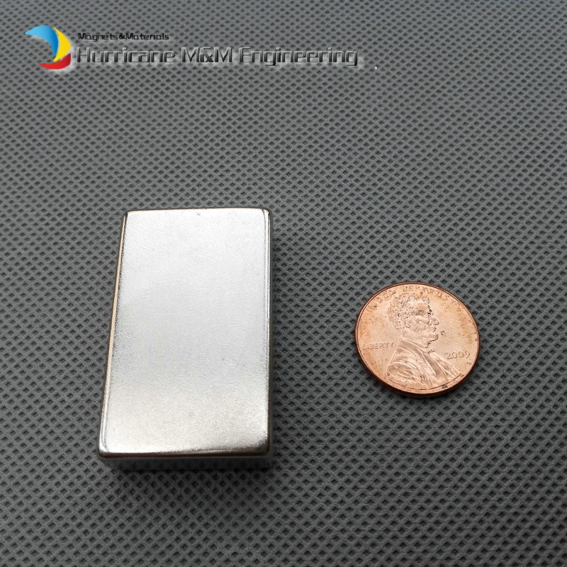 6 pcs/lot N52 NdFeB Block 40 x 25 10mm bar Strong Neodymium Permanent Magnets Rare Earth Industry Magnet