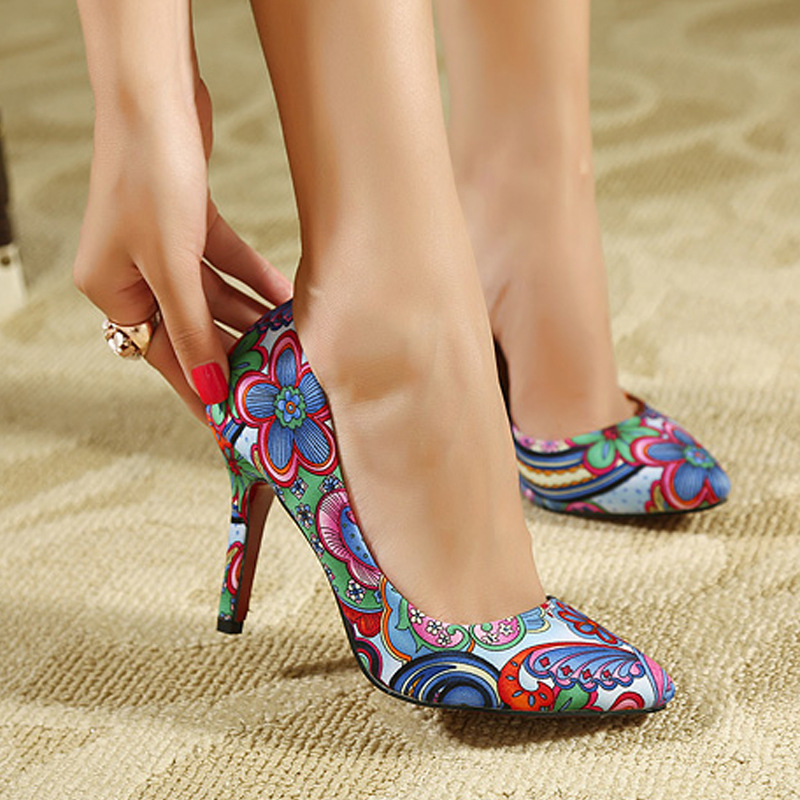 red bottom high heels fashion ladies shoes woman 2013 spring new platform pumps pointed toe