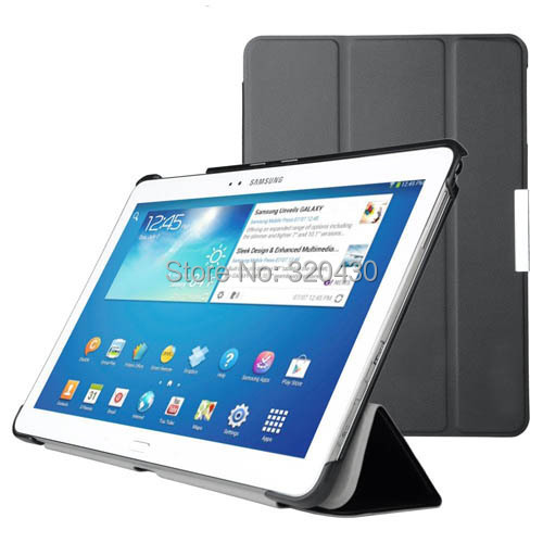 Hot Ultra Slim Samsung Galaxy Note 10.1 2014 Edition/Galaxy Tab Pro 10.1 smart cover case Auto Sleep-P600 P605 T520 T525  Case(China (Mainland))
