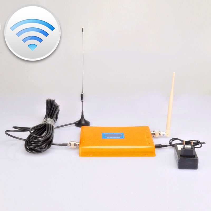 LCD Display Mobile Phone Signal Booster GSM Signal Repeater CDMA 3G 4G Cell Phone Amplifier With Sucker Cable Antenna(China (Mainland))