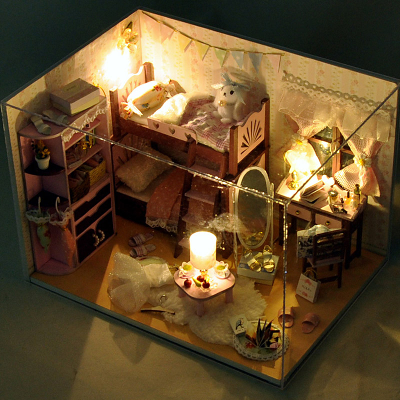 Home decoration crafts diy doll house wooden doll houses for House decoration stuff