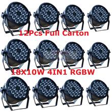 Buy 12pcs Led Par Light 18X10W 4in1 RGBW Led Slim Par Can Strobe Laser DMX DJ Disco Professional Stage Lights Sound Party Equipment for $675.00 in AliExpress store