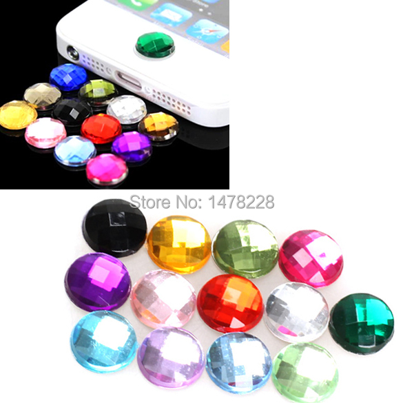 10x Diamond Bling Home Button Mobile Phone Stickers for Apple iPod iPhone 3GS 4G 4S 5 5G B2C Shop(China (Mainland))