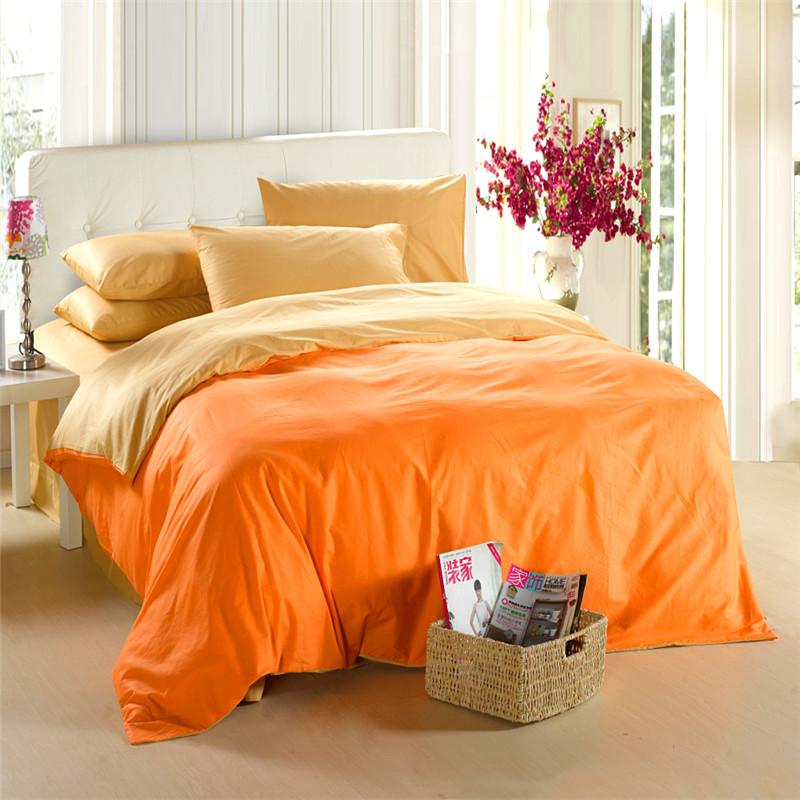 Yellow Orange Bedding Set King Size Queen Quilt Doona