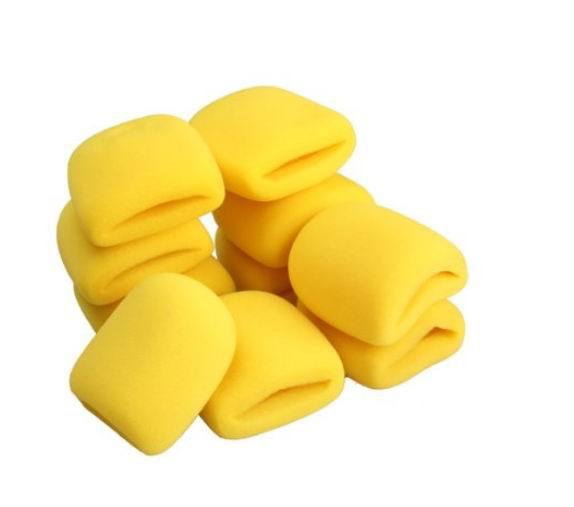 10Pcs Thickness 6mm Microphone Grill Foam Cover Audio Mic Shield Sponge Cap Holder Best Cloths For Your Microphone Yellow(China (Mainland))