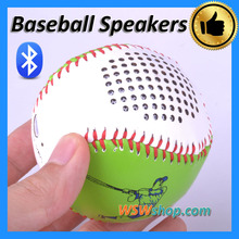 Lovely Leather Coated Baseball Mini Wireless Bluetooth Speakers For Iphone Samsung Support Handsfree