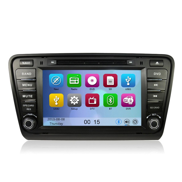 """Free Shipping 8"""" Touch Screen Car DVD Player GPS Navigation For Volkswagen Skoda Octaiva 2014 Radio USB SD Free map software(China (Mainland))"""