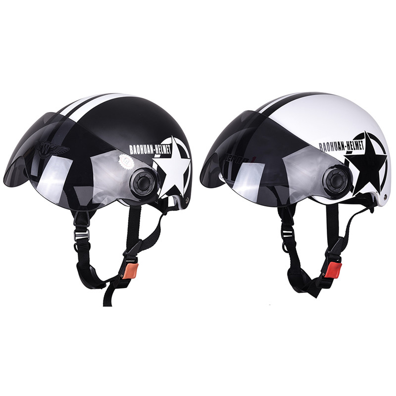 Motorcycle Helmet Half Face Helmet Half Open Face Bike Cycling Helmet Protective ABS Baseball Cap With Five-Pointed Stars Sale(China (Mainland))