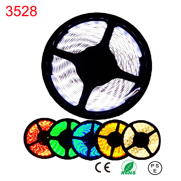 RGBW RGB led strip light neon tape flexible ribbon feed ruban bande fita tiras cinta stripe SMD 3528 5m roll 300 leds 24W 12V(China (Mainland))