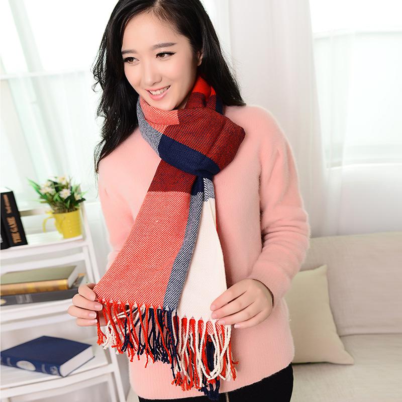 winter scarf 2016 font b Tartan b font Scarf women Plaid Scarf cuadros New Designer Unisex