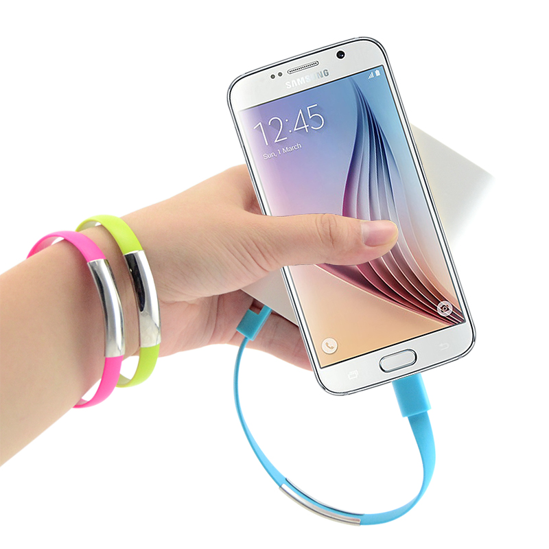 Universal Bracelet Mobile Phone Cables Micro USB Data Cable Charging For Samsung Galaxy S3 S4 S6 A3 A5 A7 Note 2 4 M9 M8