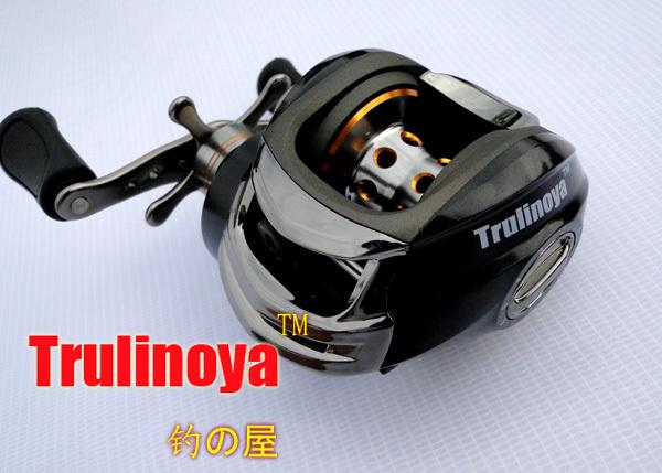 Free shipping lure Fishing reel Bait baitcasting fishing reel black Left hand Trulinoya DM 120LA One-way+9ball bearings 210g<br><br>Aliexpress