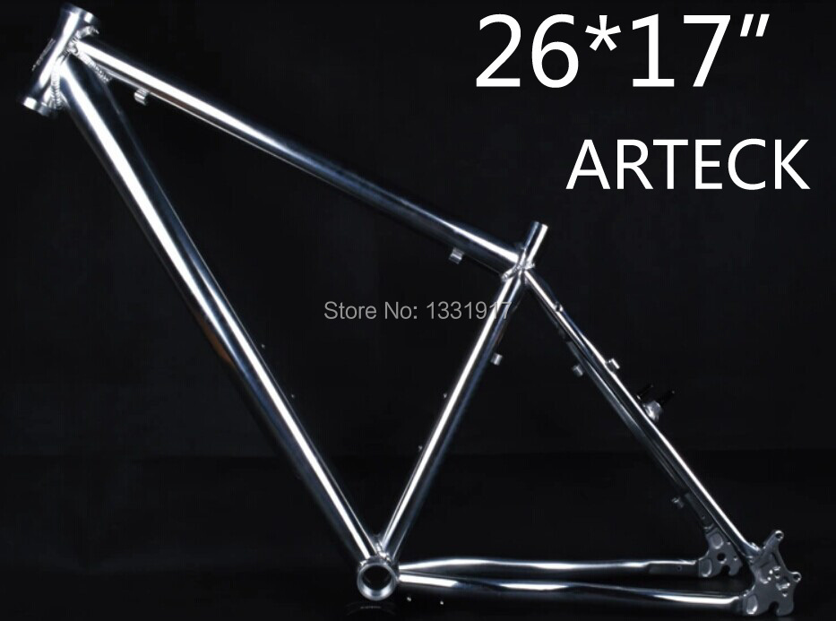 "Hot New 2014 ARTECK Super bright Mountain Bike Aluminum Alloy track Bicycle Frame 26*17"" MTB road frame Frames Free shipping(China (Mainland))"
