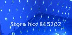 10pcs BLUE 320led 2 meters *3 meters net lights christmas wedding Flashing String Fairy Lights Free DHL/EMS(China (Mainland))