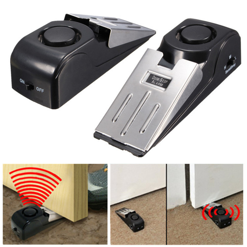 Hot Sale High Quality Portable Security Door Stop Alarm Home Office Traveling Safety Wedge 125dB<br><br>Aliexpress