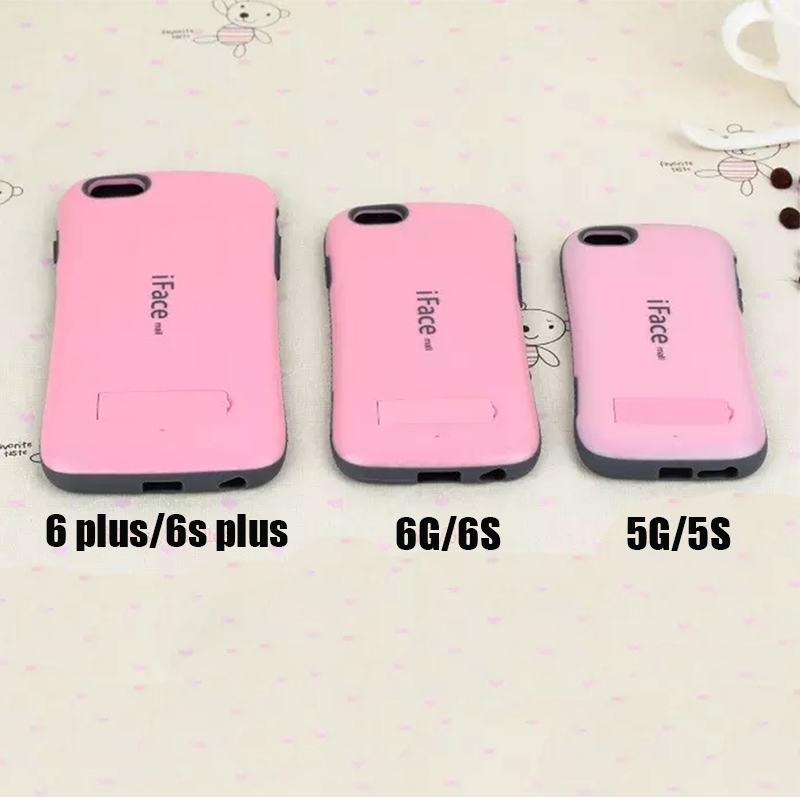 Candy Color Korea Style Shock Absorbing case 2 in 1 TPU+PC Hard Case Silicone Cover For IPHONE 5 6 6S PLUS(China (Mainland))