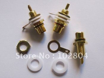 30 pcs Gold Plated RCA Jack Panel Mount Chassis Socket Red and Black
