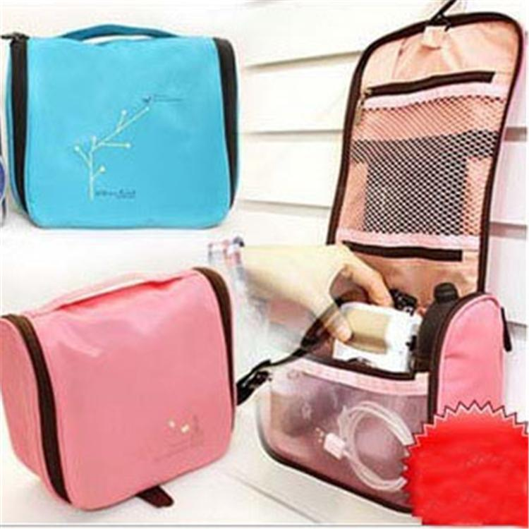Cute Womens Lady Cosmetic pouch Travel Makeup bag Clutch Handbag Casual Purse with Hook Up Free shipping(China (Mainland))