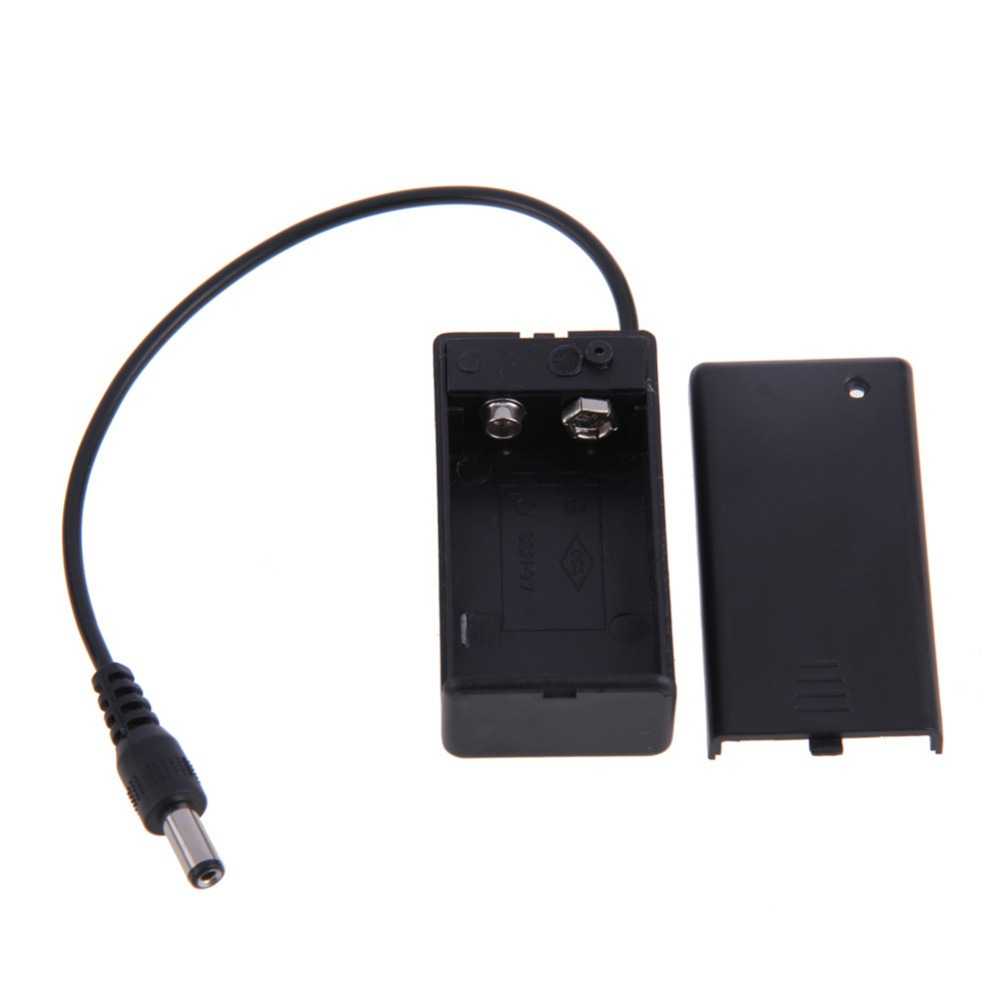 New 9V Volt PP3 Battery Holder Box DC Case With Wire Lead ON/OFF Switch Cover ISP(China (Mainland))