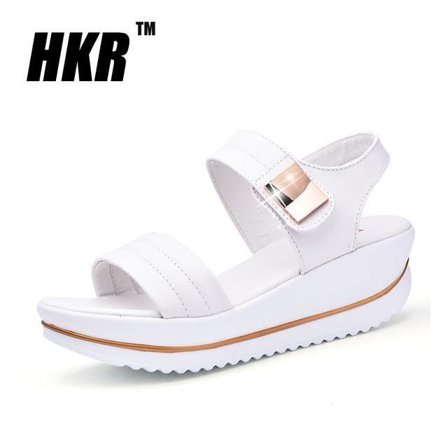 HKR 2016 женщин сандалии Кожа PU является высокотехнологичным и высокосортным продуктом. ...