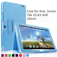 Folio PU Leather Slim Fit Stand Case Cover for Acer Iconia Tab 10 A3-A20 10.1-Inch HD Tablet Only (Acer Iconia Tab 10 A3-A20)