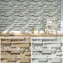 HaokHome 3D Brick Stone print Vinyl wallpaper 0.53m*10m,modern style for art bar Living room shop,wholesale(China (Mainland))