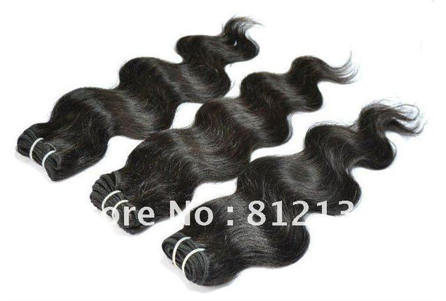 "100% guaranteed  Body Wave,3pcs*8""-30"",free shipping, 100% virgin brazilian human hair extension ,remy hair, 1b(95-100g/pc)"