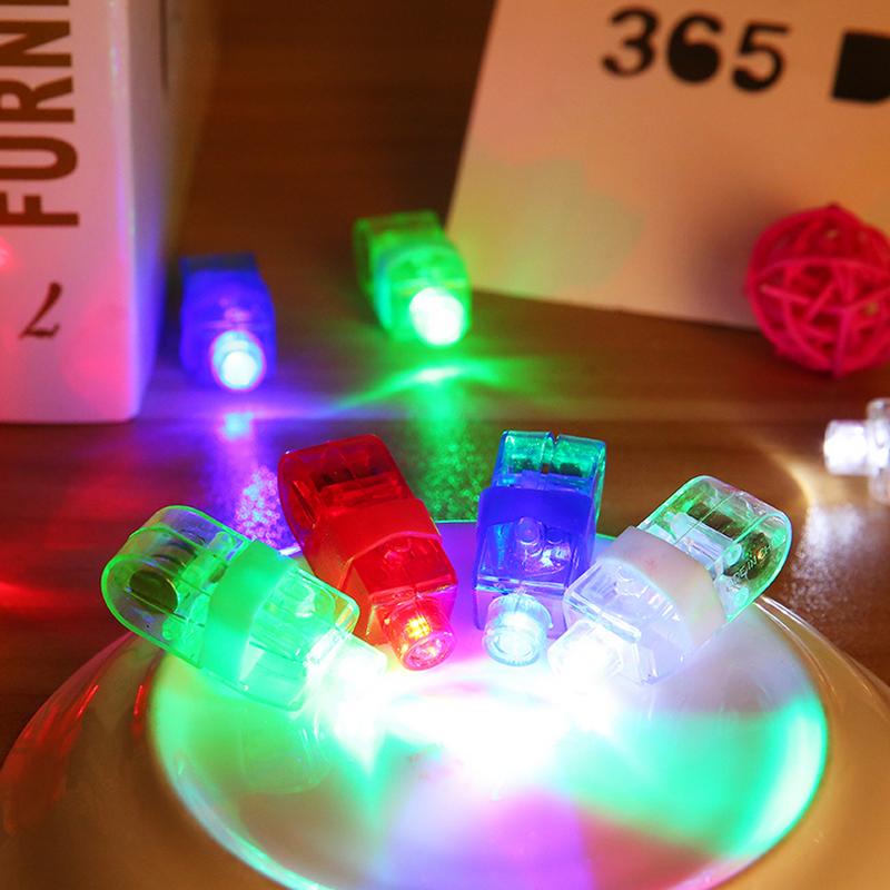 4Pcs LED Finger Lights Glowing Colorful Laser Emitting Lamps Christmas Celebration Festival Party Decor Children Toys(China (Mainland))