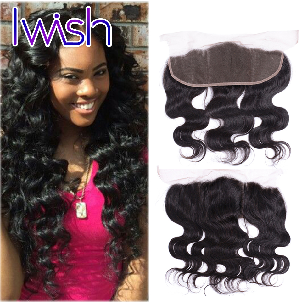 13x4 lace frontal 1Piece Brazilian body wave  Human Hair Ear to Ear Lace Frontal Brazilian Virgin Hair<br><br>Aliexpress
