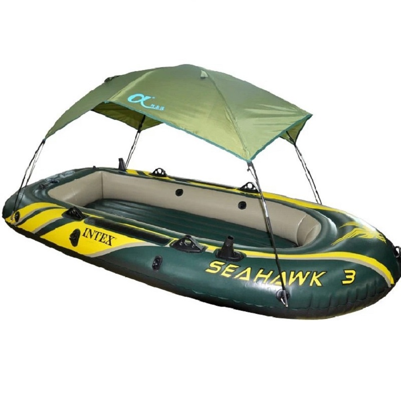 High Quality INTEX inflatable boat Tent sun shelter fishing tent shade-shed inflatable rowing boats rubber fishing boat tent