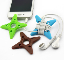 New Cord Cable Winder Earphone Organizer Wrap Headphone Wire Holder Organizer for iPhone iPod Mp3(China (Mainland))
