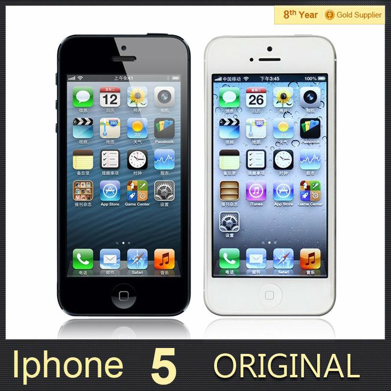 Original APPLE iPhone 5 Cell Phone iOS OS Dual core 1G RAM 16GB 32GB 64GB ROM 4.0 inch 8MP Camera WIFI GPS 3G Used Phone(Hong Kong)