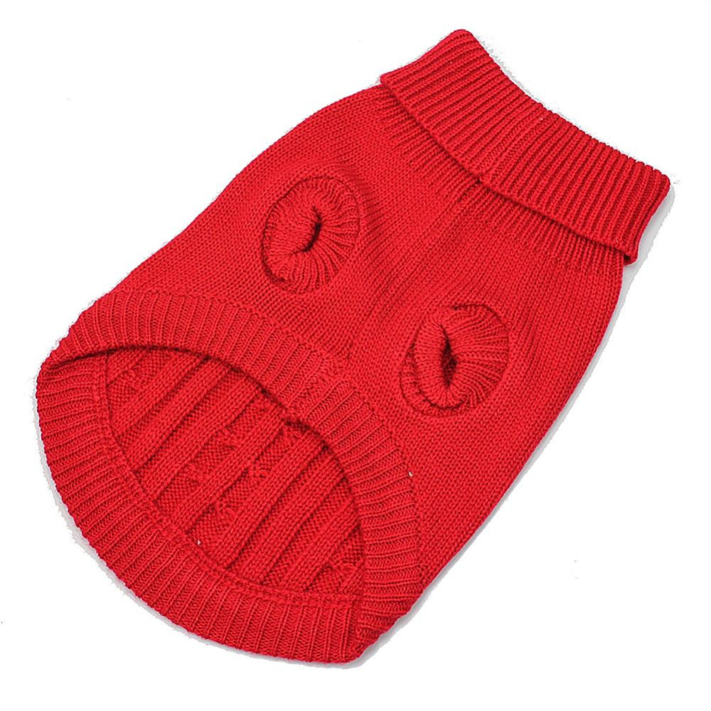Small Dog Cat Puppy Winter Warm Jumper Sweater Clothes Knitwear Costume Knitted Coat Apparel Clothing Outwear XS Red(China (Mainland))