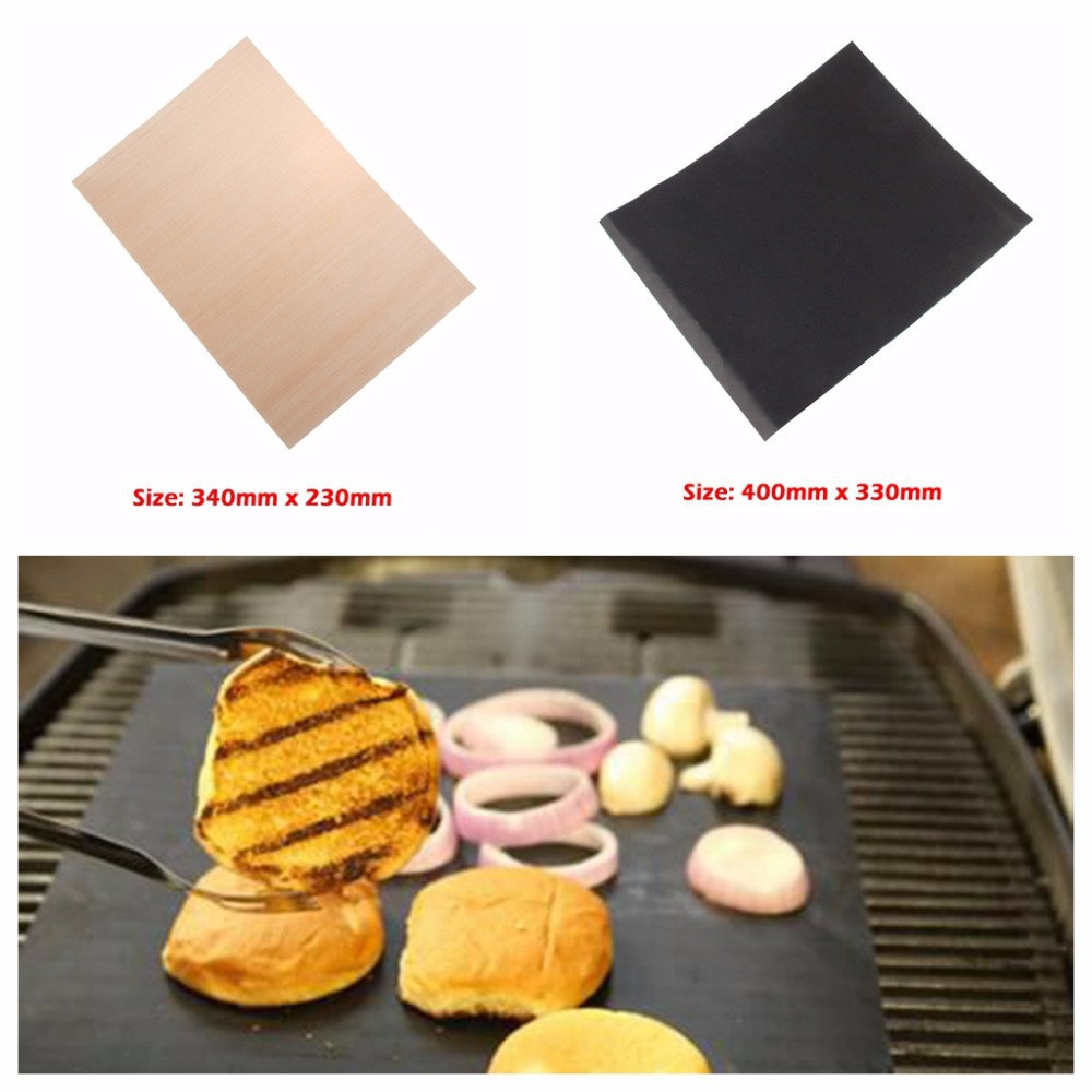 2Pcs New Hot Reusable BBQ Grill Mat Sheet Hot Plate Portable Easy Clean OutDoor cooking tool Free Shipping(China (Mainland))