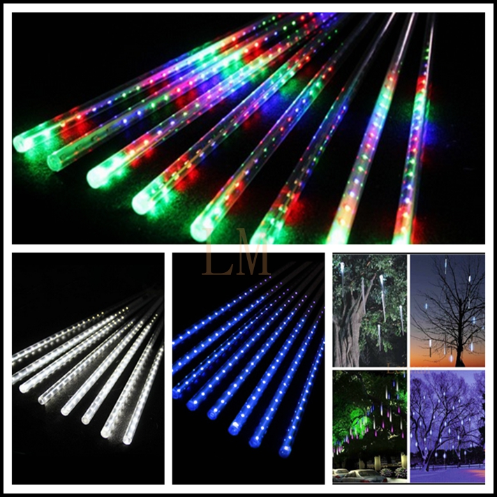 High quality AC100-240V 30CM Meteor Shower Rain Tubes LED Christmas Lights Wedding Party Garden Xmas String Light outdoor(China (Mainland))