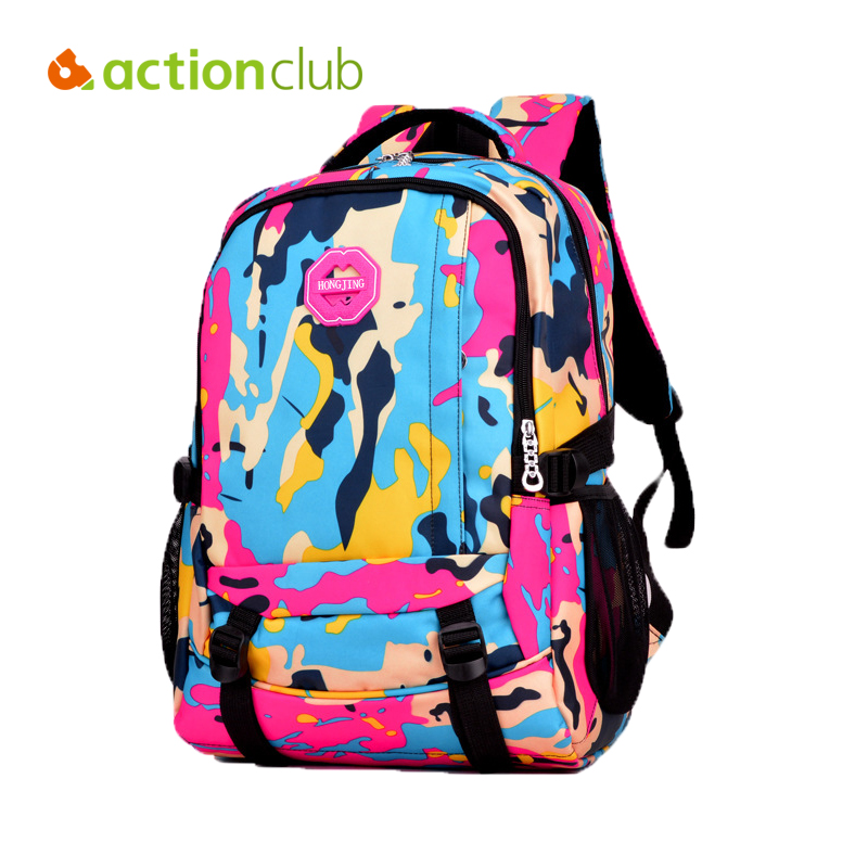 Actionclub Fashion Camouflage Outdoor Sport Bag 2016 New Fashion Backpack Hiking Camping Running Bag Children Traveling Bag 30L(China (Mainland))