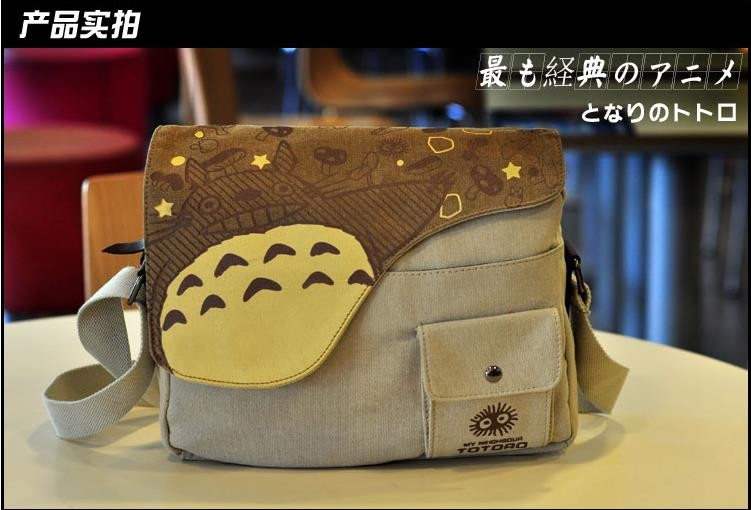 Fashion Anime My Neighbor Totoro Canvas Messenger Bag Unisex Students Boys Girls Shoulders Bag Schoolbag Best Gifts