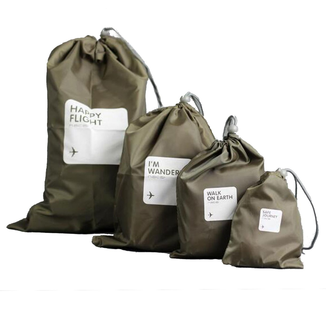 4 PCS of Different Size Storage Bags Water Proof Nylon Material for Shoes Travel Flight Bag(China (Mainland))