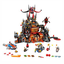 124Nexoees knight Axl Jestros Volcano Lair Combination narve Building Blocks Kits Toys figures Compatible Nexus - bebetoy Store store