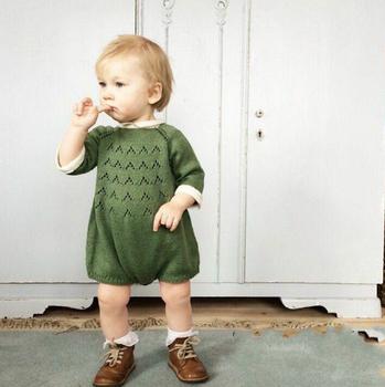 Sweet Baby Romper Girl Sweater Romper Toddler Bodysui kids Knitted Romper Tops Clothing roupas infantis menina fille Pull