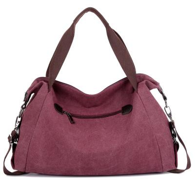 Casual canvas women big shoulder handbags