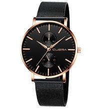 Montre 3bar noir hommes relogio feminino montre femme montres femme montre avec cristaux reloj mujer mode bayan saat(China)