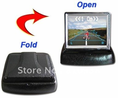 Foldaway 3.5 inch TFT LCD display monitor car DVD players LCD monitor Color Car Rearview Monitor DC12-24V for Car Reverse camera
