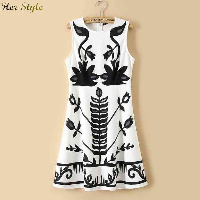 Free Shipping products in Europe and America the summer wind plant printed sleeveless dress ladies slim vest fashion 3(China (Mainland))