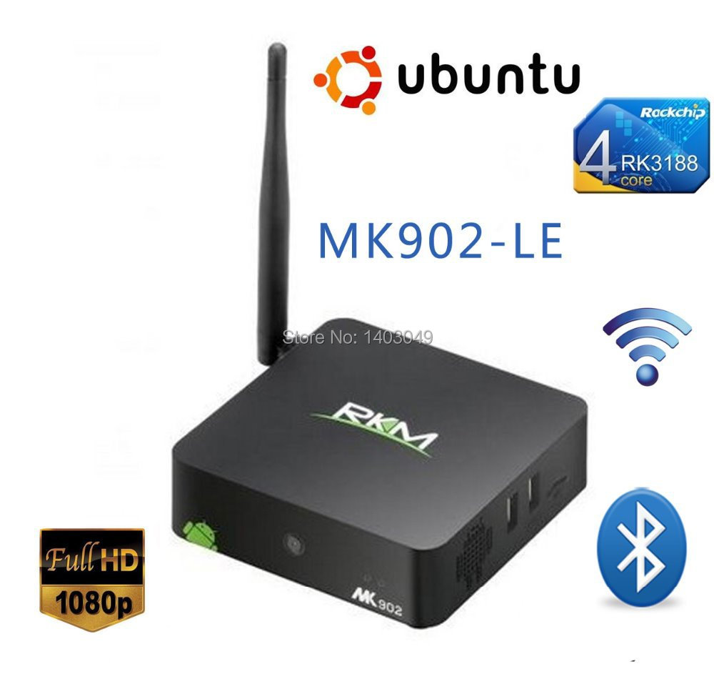 RKM MK902-LE RK3188 Quad Core RAM 2G ROM 8G Linux Ubuntu 13.04 Mini PC WIFI HDMI Linux Ubuntu 13.04 Mini PC Free Shipping(China (Mainland))