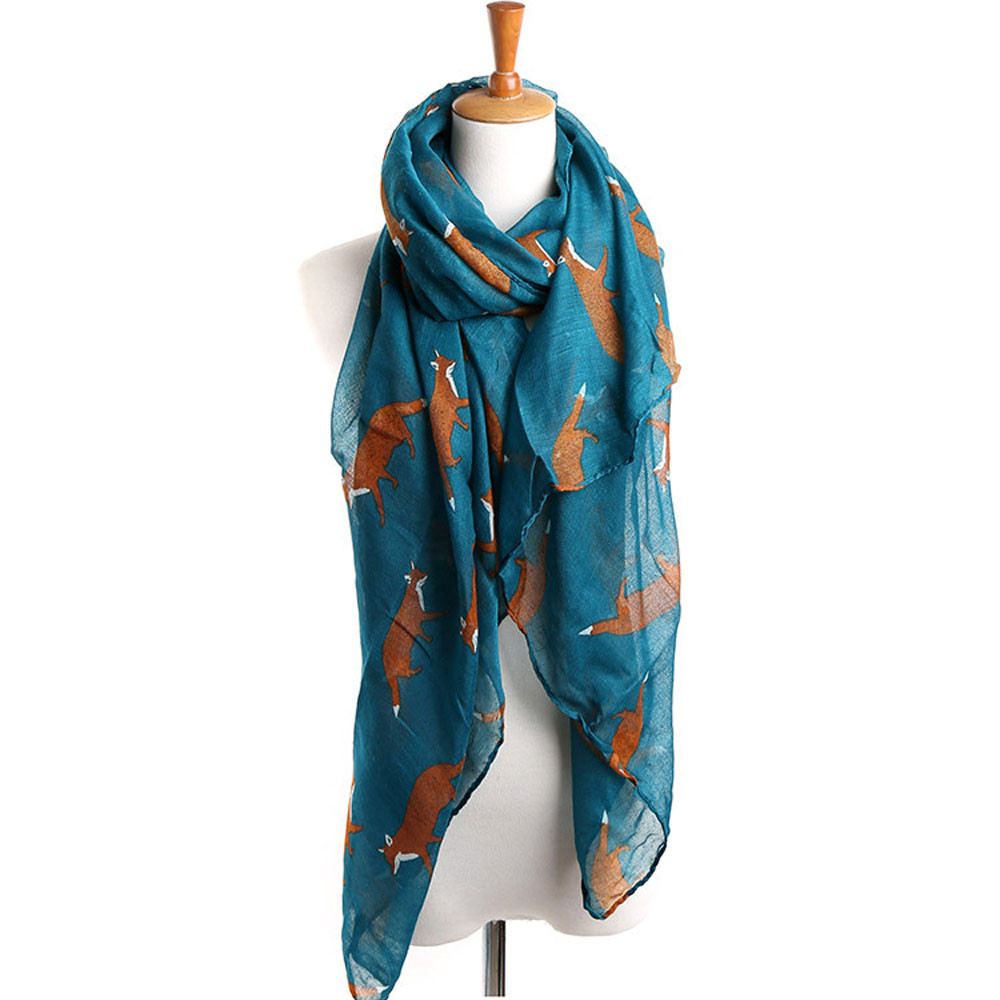 Vestido Casual Ladies tops Women Long Cute Fox Scarf luxury brand Wraps Soft Shawls and scarves Summer beach(China (Mainland))