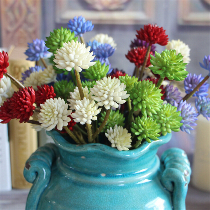 Beautiful lifelike artificial flower plants echeveria for Home decor with plants