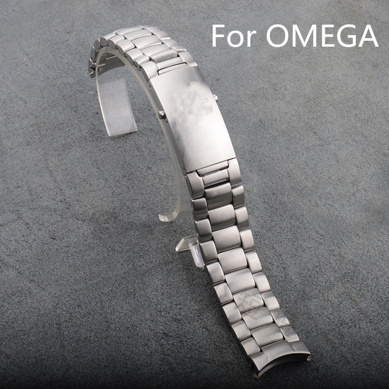 Luxury Band,Silver 20mm 22mm Stainless Steel Mesh Watchband With Fold over clasp For Omeg With Original Logo,Free Shiping<br><br>Aliexpress